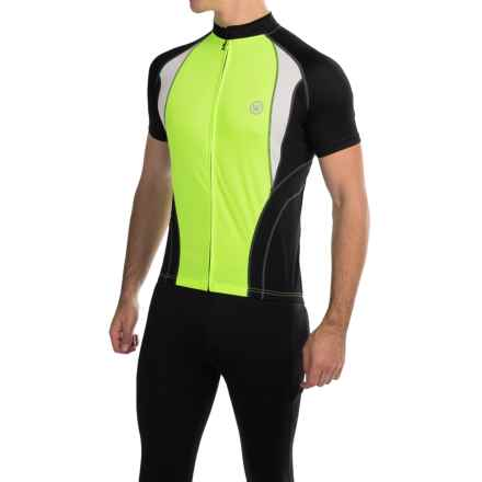 Canari Jorah Cycling Jersey - Full Zip, Short Sleeve (For Men) in Killer Yellow - Closeouts