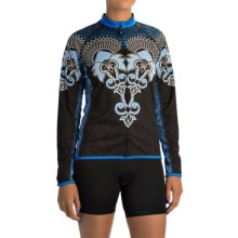 Canari Juniper Cycling Jersey - UPF 30+, Full Zip, Long Sleeve (For Women) in Azure Blue - Closeouts