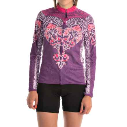 Canari Juniper Cycling Jersey - UPF 30+, Full Zip, Long Sleeve (For Women) in Imperial Purple - Closeouts
