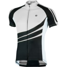 Canari Klipspringer Cycling Jersey - UPF 30+, Short Sleeve (For Men) in Black/White - Closeouts