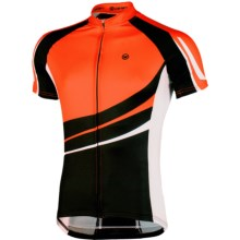 Canari Klipspringer Cycling Jersey - UPF 30+, Short Sleeve (For Men) in Lava - Closeouts