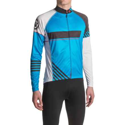 Canari Odyssey Cycling Jersey - UPF 30+, Long Sleeve (For Men) in Azure Blue - Closeouts