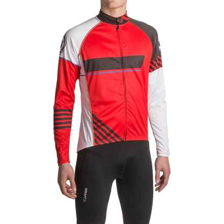 Canari Odyssey Cycling Jersey - UPF 30+, Long Sleeve (For Men) in Radar Red - Closeouts