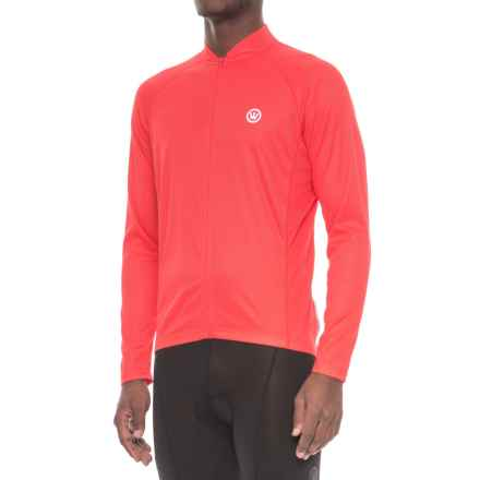 Canari Optic Nova Cycling Jersey - Full Zip, Long Sleeve (For Men) in Red Hot - Closeouts