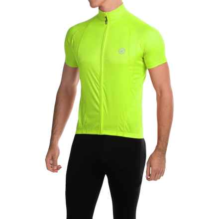 Canari Optic Nova Cycling Jersey - Full-Zip, Short Sleeve (For Men) in Killer Yellow - Closeouts