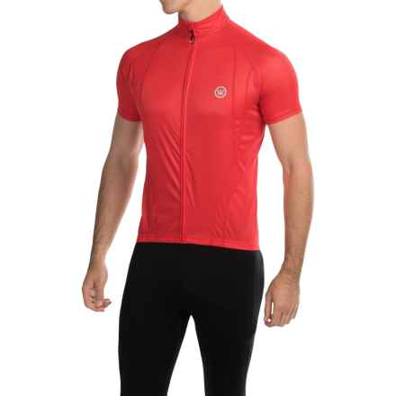 Canari Optic Nova Cycling Jersey - Full-Zip, Short Sleeve (For Men) in Red Hot - Closeouts
