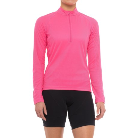 Canari Optic Nova Cycling Jersey - Long Sleeve (For Women) in Hot Pink
