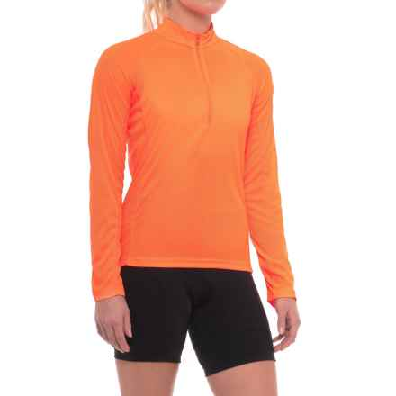 Canari Optic Nova Cycling Jersey - Long Sleeve (For Women) in Solar Orange - Closeouts