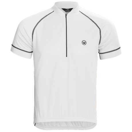 Canari P2 Cycling Jersey - UPF 30+, Zip Neck, Short Sleeve (For Men) in White