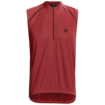 Canari P2 Tank Top Cycling Jersey - Zip Neck (For Men) in Crimson