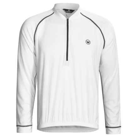 Canari Paceline Cycling Jersey - Zip Neck, Long Sleeve (For Men) in White - Closeouts
