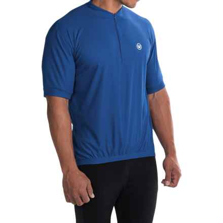 Canari Paceline Cycling Jersey - Zip Neck, Short Sleeve (For Big Men) in Sapphire - Closeouts
