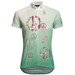 Canari Peace Out Cycling Jersey - Short Sleeve (For Women) in Bamboo