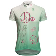 Canari Peaceout Cycling Jersey - Short Sleeve (For Women) in Bamboo - Closeouts