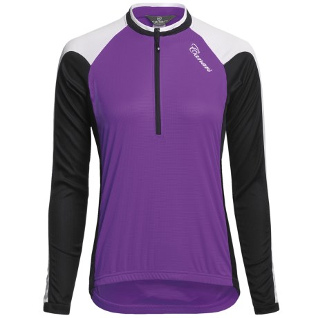 Canari Pinnacle Cycling Jersey - Zip Neck, Long Sleeve (For Women) in Grape