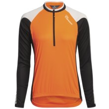 Canari Pinnacle Cycling Jersey - Zip Neck, Long Sleeve (For Women) in Solar Orange - Closeouts