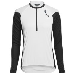 Canari Pinnacle Cycling Jersey - Zip Neck, Long Sleeve (For Women) in White