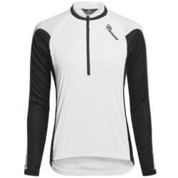 Canari Pinnacle Cycling Jersey - Zip Neck, Long Sleeve (For Women) in White