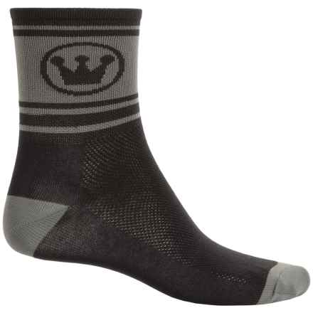 Canari Race Socks - Quarter Crew (For Men) in Black - Closeouts