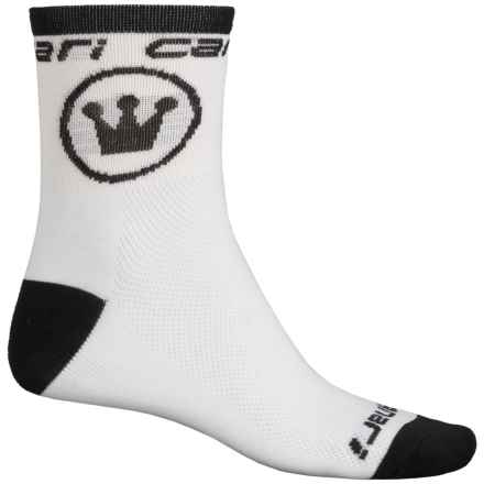 Canari Race Socks - Quarter Crew (For Men) in White - Closeouts