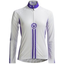 Canari Racer X Cycling Jersey - Long Sleeve (For Women) in White - Closeouts