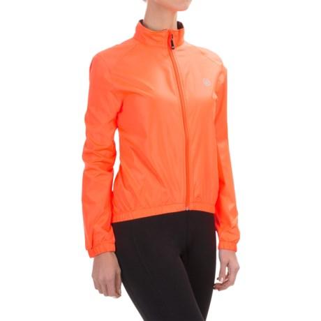 Canari Radiant Wind Shell Jacket (For Women) in Solar Orange