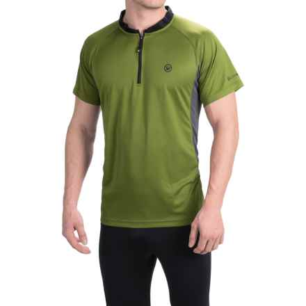 Canari Ridge Zip Neck Cycling Jersey - Short Sleeve (For Men) in Ceylon Green - Closeouts