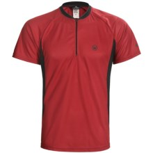 Canari Ridge Zip Neck Cycling Jersey - Short Sleeve (For Men) in Crimson - Closeouts