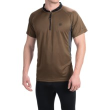 Canari Ridge Zip Neck Cycling Jersey - Short Sleeve (For Men) in Durango Brown - Closeouts