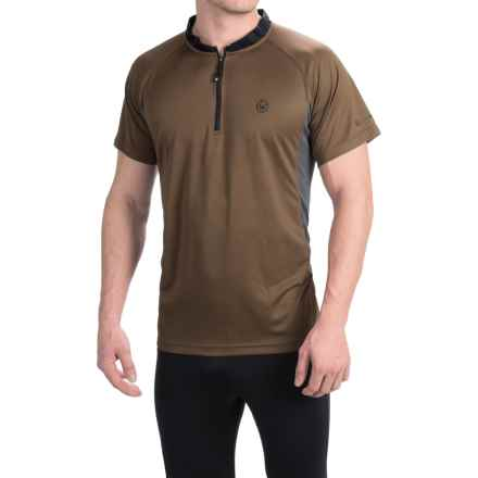 Canari Ridge Zip Neck Cycling Jersey - Short Sleeve (For Men) in Durango Brown - Closeouts