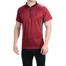 Canari Ridge Zip Neck Cycling Jersey - Short Sleeve (For Men) in Rio Red - Closeouts