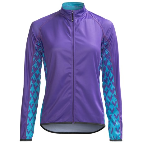 Canari Roma Cycling Jersey - Full Zip, Long Sleeve (For Women) in Iris