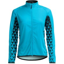 Canari Roma Cycling Jersey - Full Zip, Long Sleeve (For Women) in Turquoise - Closeouts