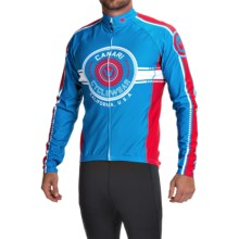 Canari Shift Cycling Jersey - UPF 50+, Long Sleeve (For Men) in Azure Blue - Closeouts