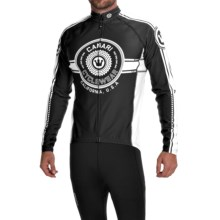 Canari Shift Cycling Jersey - UPF 50+, Long Sleeve (For Men) in Black/White - Closeouts