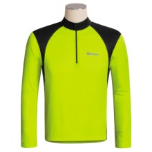 Canari Sight Cycling Jersey - Zip Neck, Long Sleeve (For Men) in Killer Yellow - Closeouts