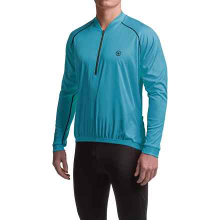Canari Solar Flare Cycling Jersey - Zip Neck, Long Sleeve (For Men) in Electric Blue - Closeouts
