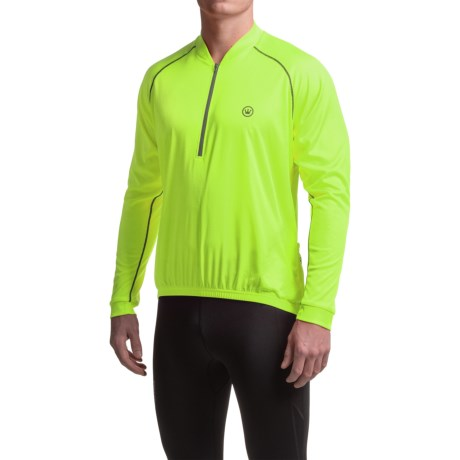 Canari Solar Flare Cycling Jersey - Zip Neck, Long Sleeve (For Men) in Killer Yellow