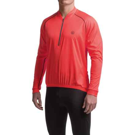 Canari Solar Flare Cycling Jersey - Zip Neck, Long Sleeve (For Men) in Red Hot - Closeouts