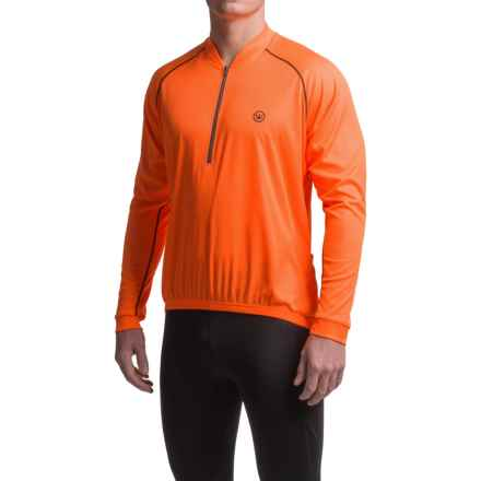 Canari Solar Flare Cycling Jersey - Zip Neck, Long Sleeve (For Men) in Solar Orange - Closeouts