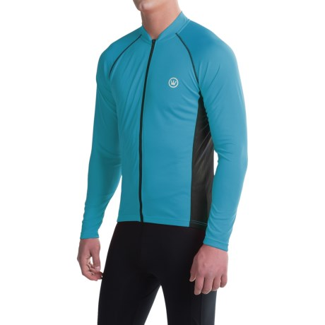 Canari Solar Flare Elite Cycling Jersey - Long Sleeve (For Men) in Electric Blue