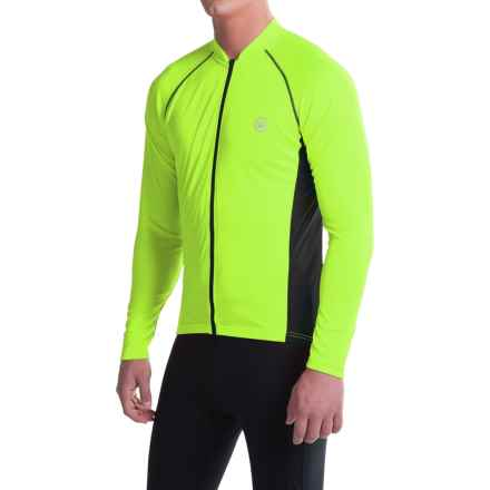 Canari Solar Flare Elite Cycling Jersey - Long Sleeve (For Men) in Killer Yellow - Closeouts