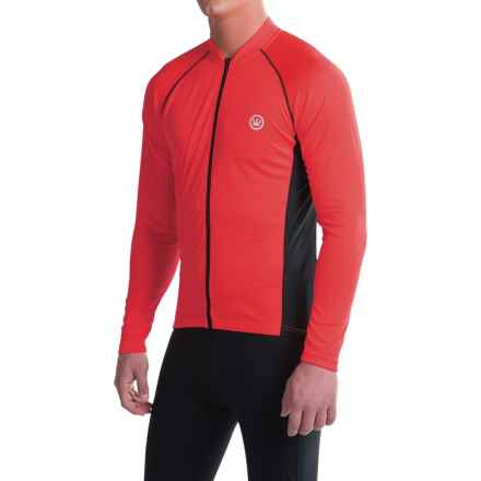 Canari Solar Flare Elite Cycling Jersey - Long Sleeve (For Men) in Red Hot - Closeouts