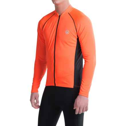 Canari Solar Flare Elite Cycling Jersey - Long Sleeve (For Men) in Solar Orange - Closeouts