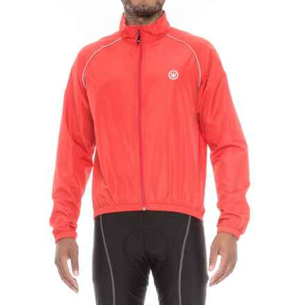 Canari Solar Flare Wind Shell Cycling Jacket (For Men) in Red Hot - Closeouts