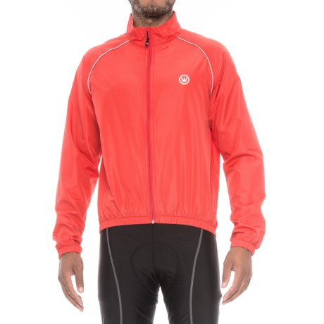Canari Solar Flare Wind Shell Cycling Jacket (For Men) in Red Hot