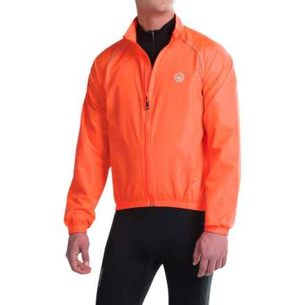 Canari Solar Flare Wind Shell Cycling Jacket (For Men) in Solar Orange - Closeouts