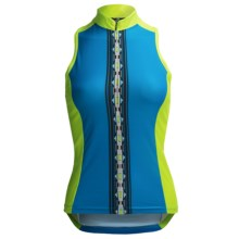 Canari Sona Cycling Tank Top - Zip Neck, Racerback (For Women) in Fiji Blue - Closeouts