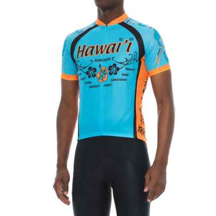 Canari Souvenir Hawaii III Cycling Jersey - Zip Neck, Short Sleeve (For Men) in Blue - Closeouts