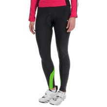 Canari Spiral Gel Cycling Tights - Chamois (For Women) in Ecto Green - Closeouts